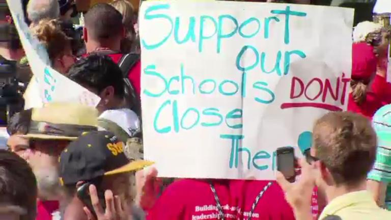 May 20, 2013 - Day 3 of School Closures Protest