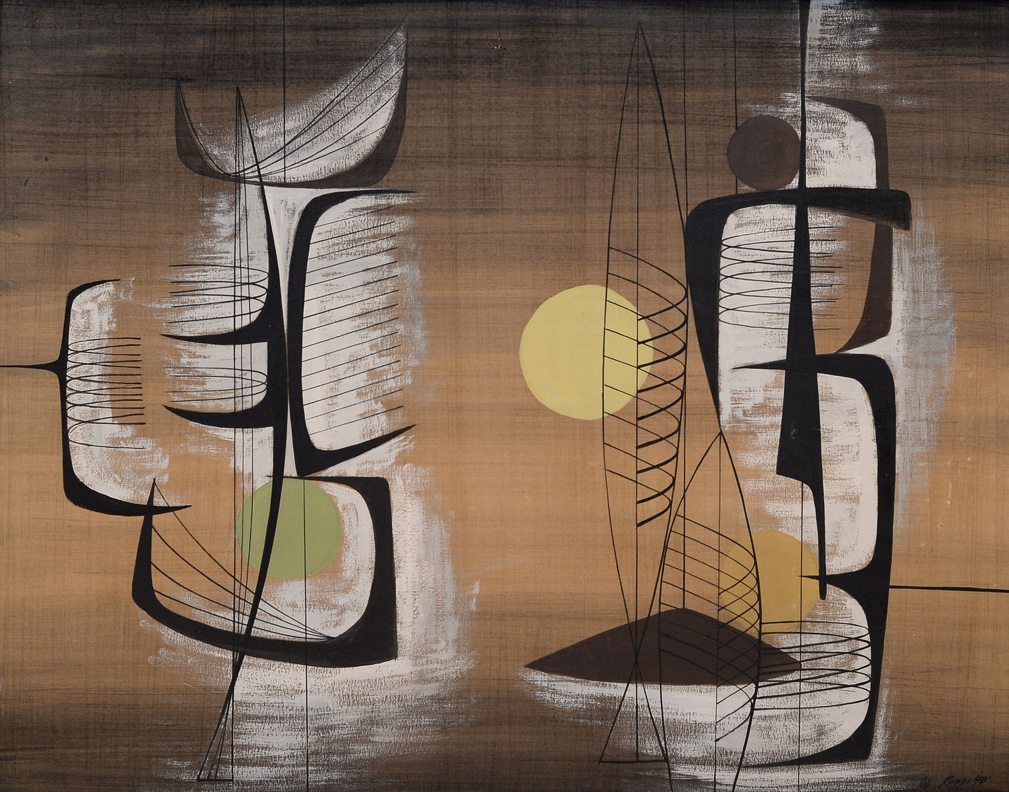 SOFA selects: Richard Koppe, 'Moonlight Night,' 1948. (Courtesy of SOFA Chicago)