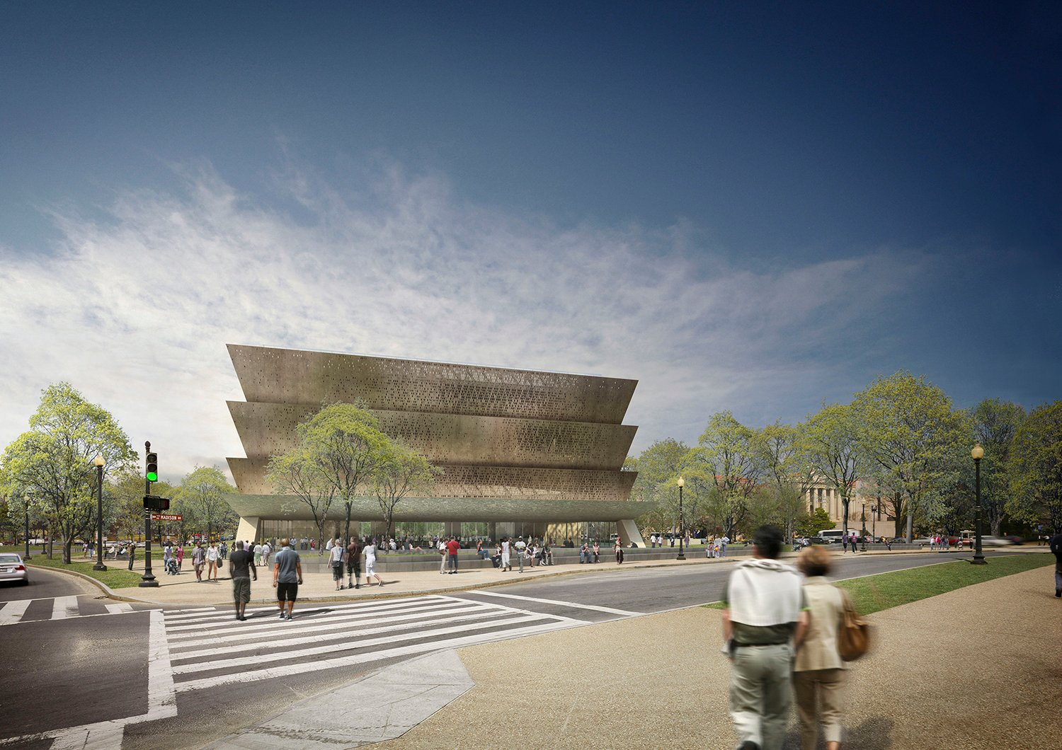 Adjaye Associates. Smithsonian National Museum of African American History and Culture, Washington D.C., current. Courtesy of Adjaye Associates.