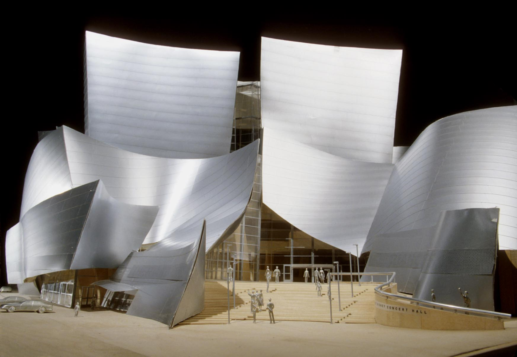 Final model of the main entry of Walt Disney Concert Hall. (Gehry Partners LLC)