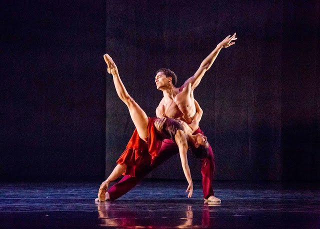 Amanda Assucena and Fabrice Calmels of The Joffrey Ballet. (Photo, Cheryl Mann)