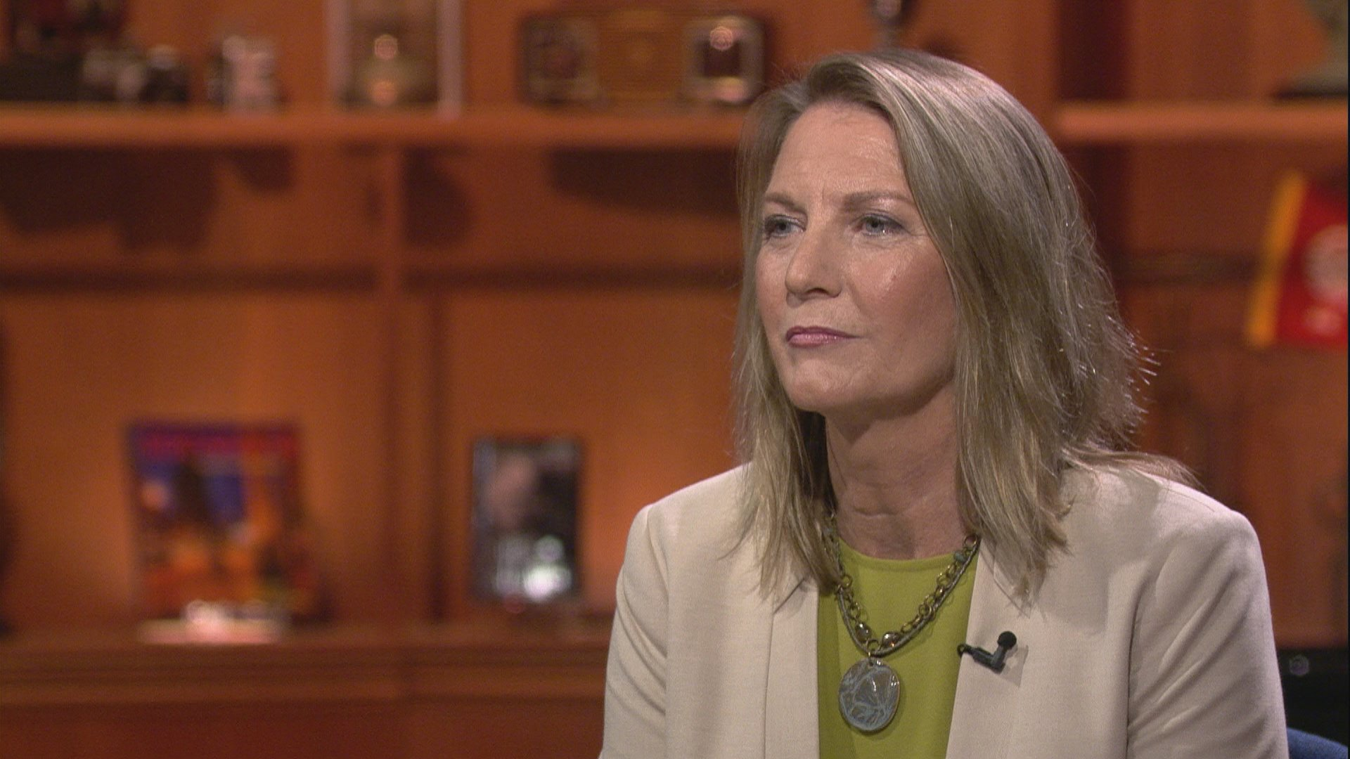 "Cook County Public Defender Amy Campanelli appears on ""Chicago Tonight"" on Aug. 21, 2019."