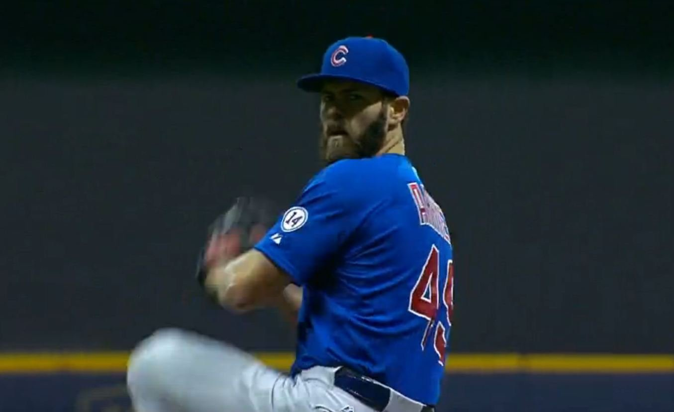 Cubs pitching ace Jake Arrieta pitched a nine-inning, four-hit shutout in Wednesday's 4-0 wild-card victory over the Pirates
