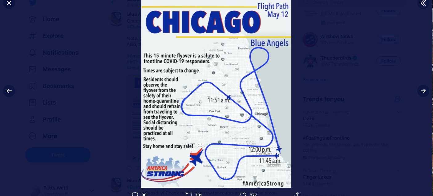 Blue Angels Plan Chicago Flyover For Tuesday Chicago News Wttw