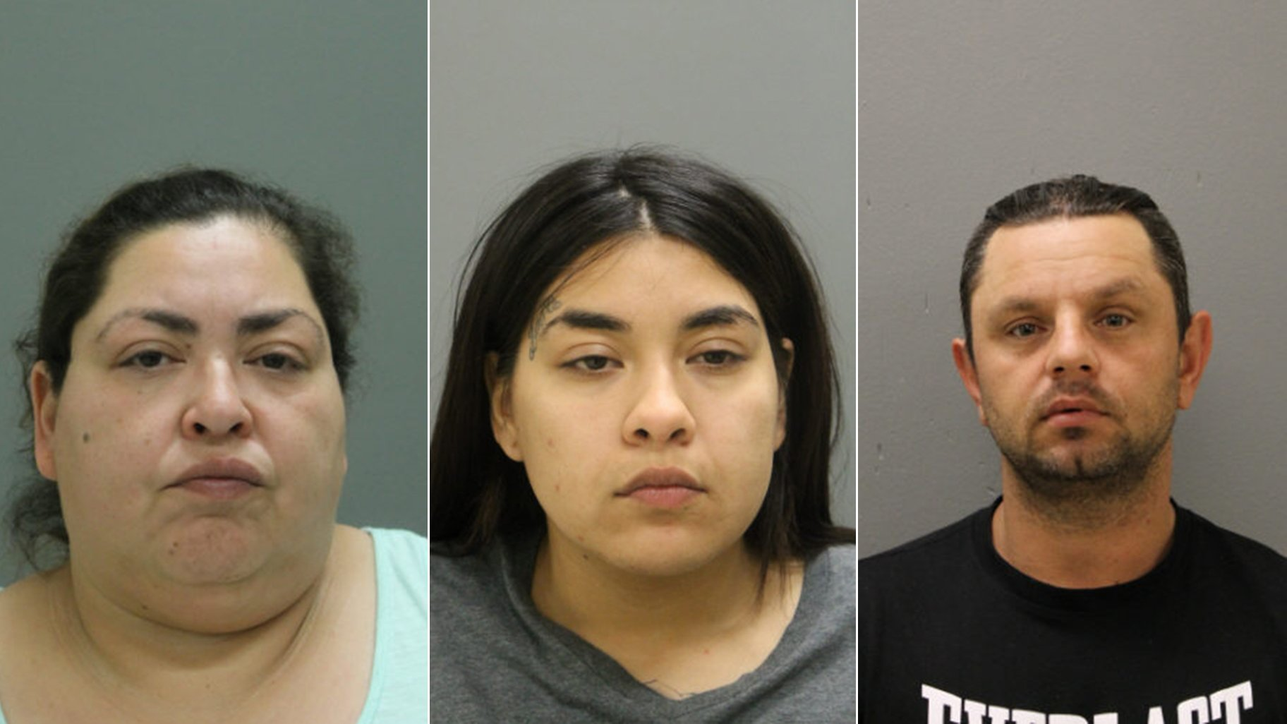 Clarisa Figueroa, left, Desiree Figueroa, center, and Piotr Bobak (Chicago Police Department)