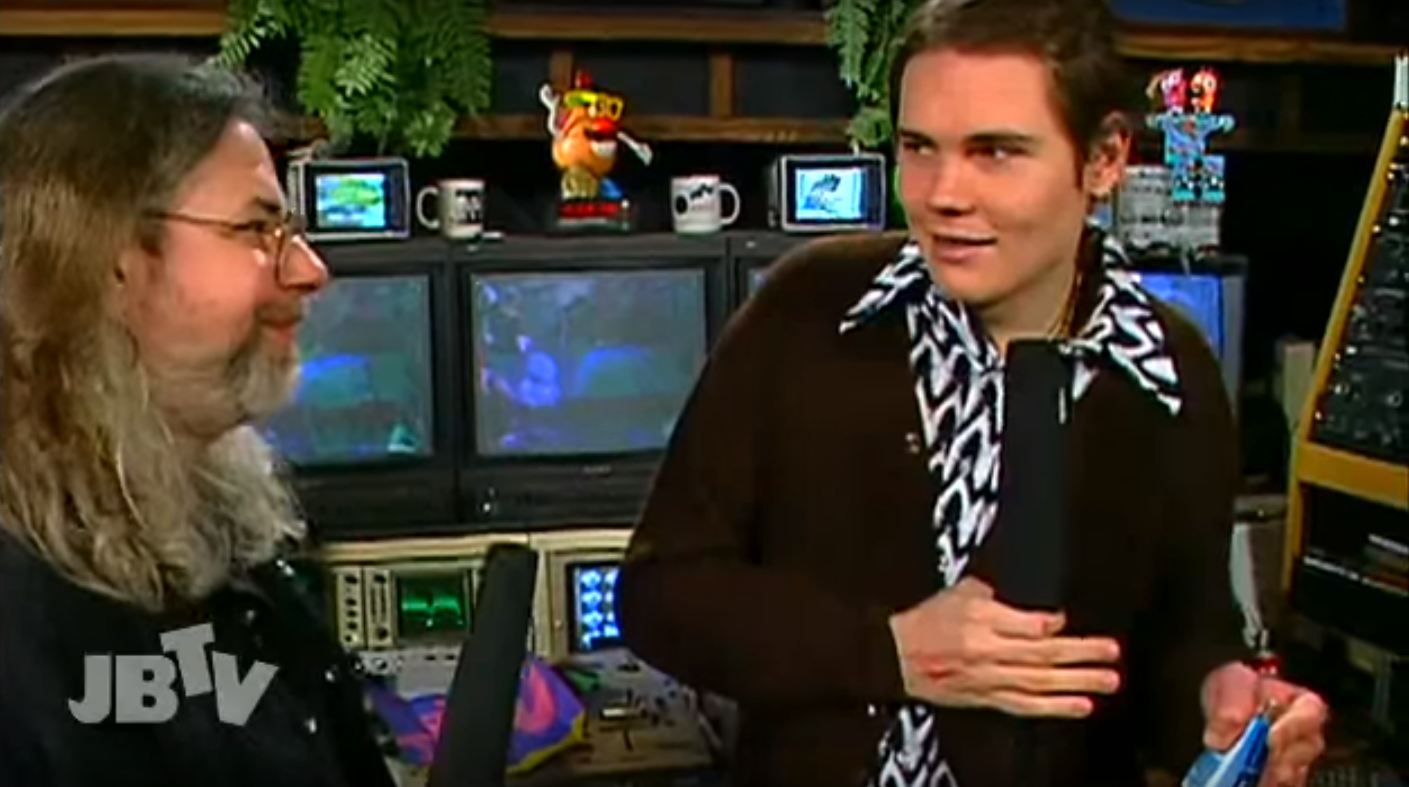 Bryant and Smashing Pumpkins' Billy Corgan in 1994. (Courtesy of JBTV)