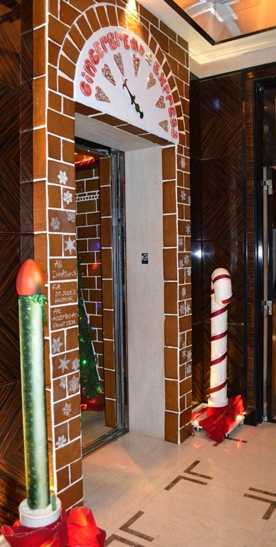 Trump Hotel Chicago Transforms Elevator Into Gingerbread