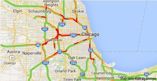 Chicago Traffic Map  MAP2