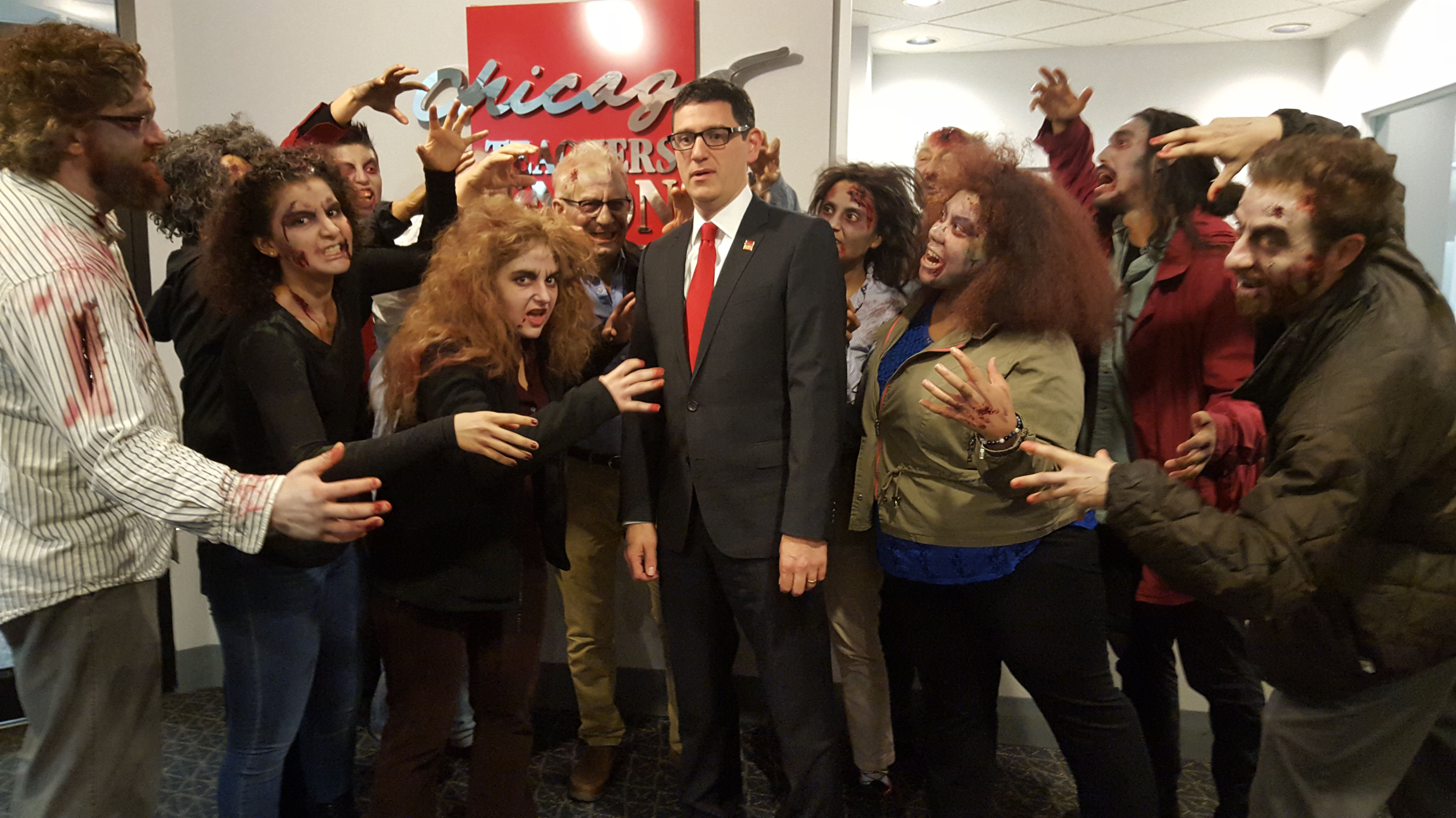 "A ""zombie board"" shows up at the CPS board meeting."