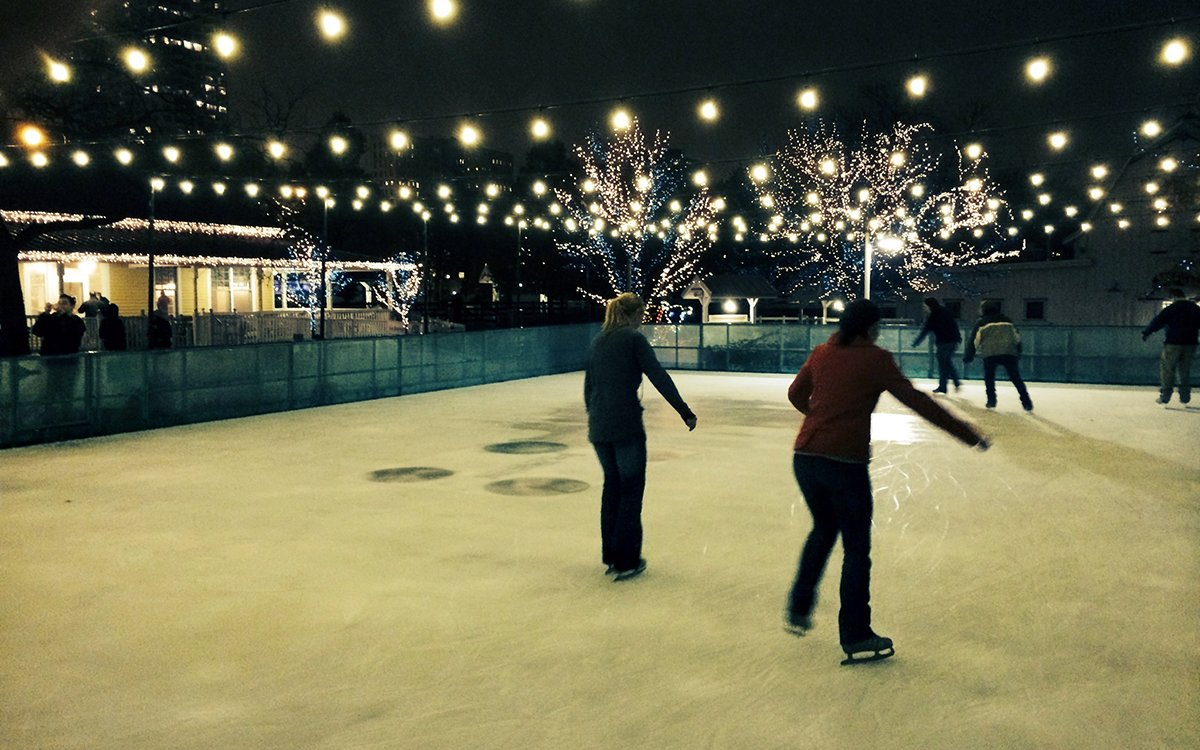 ice skating in chicago outdoor rinks serve up frozen fun