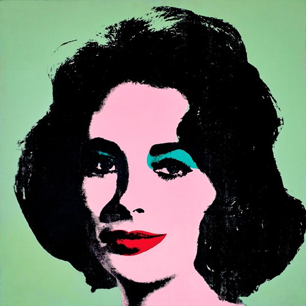 Andy Warhol. Liz #3 [Early Colored Liz], 1963. The Stefan T. Edlis Collection, Partial and Promised Gift to the Art Institute of Chicago.