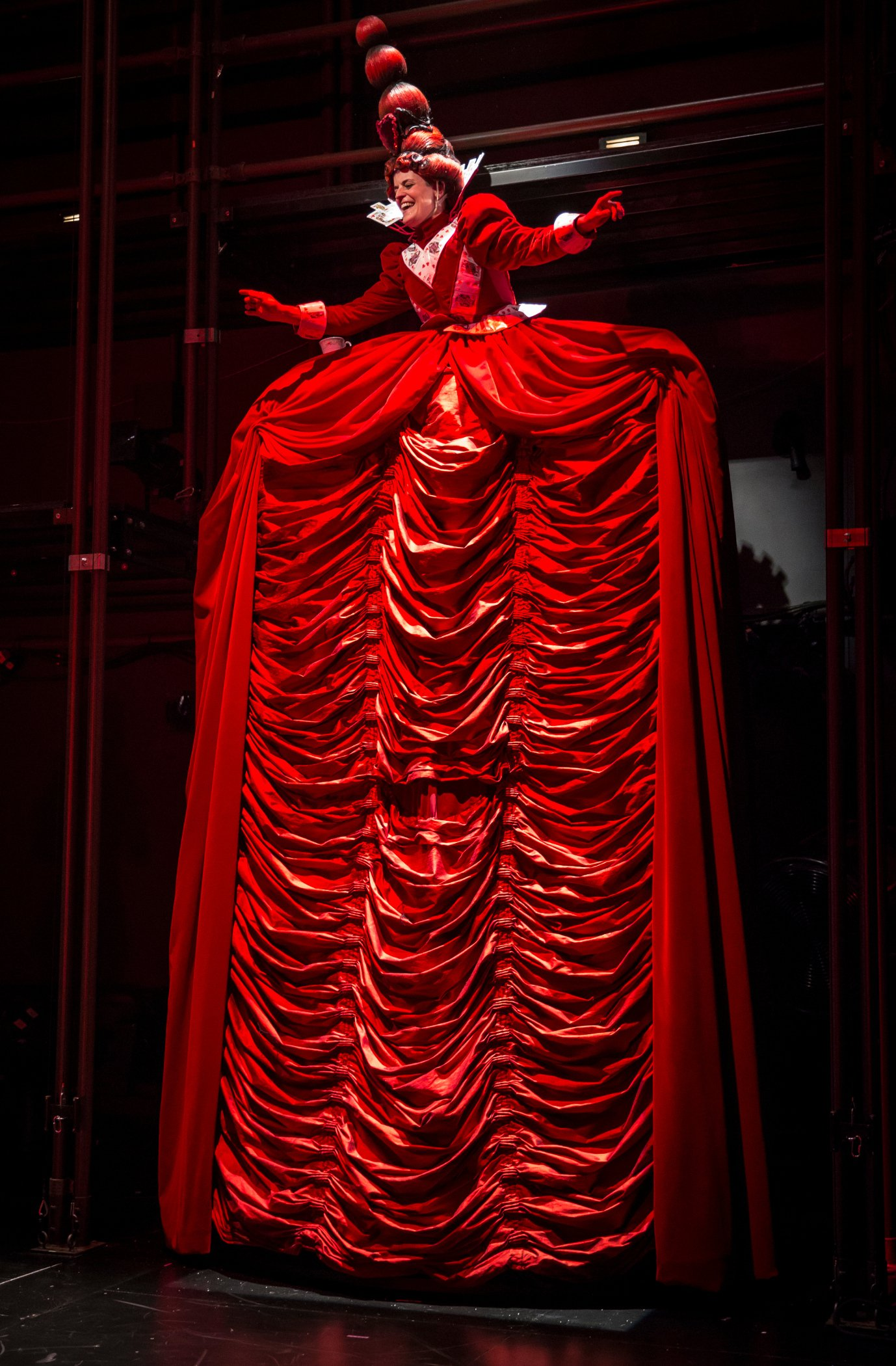 Molly Brennan as the Red Queen In Lookingglass Alice. (Liz Lauren)