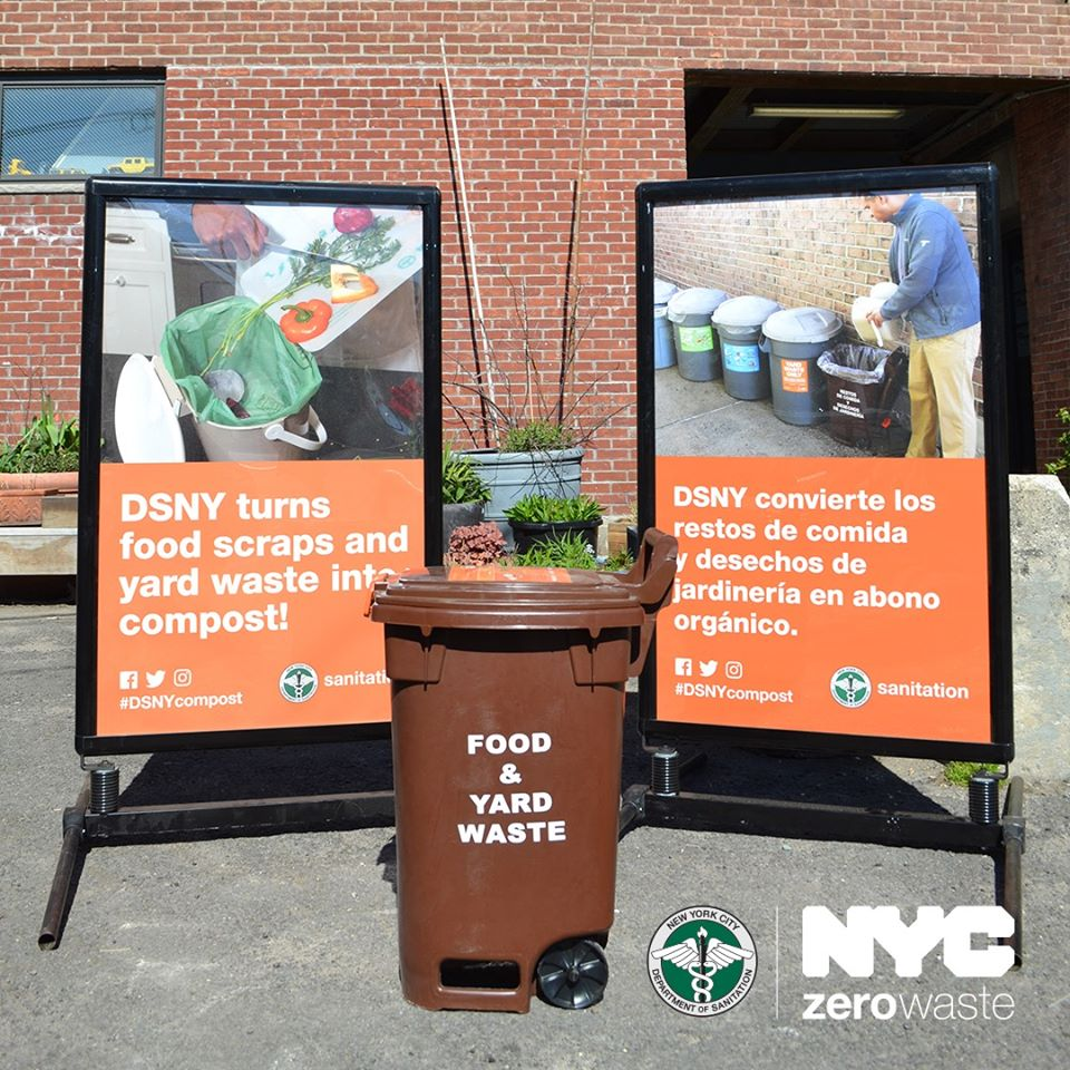 While Chicago struggles with recycling, other cities, including New York, have incorporated composting into their waste management policy. (Facebook / New York City Department of Sanitation)