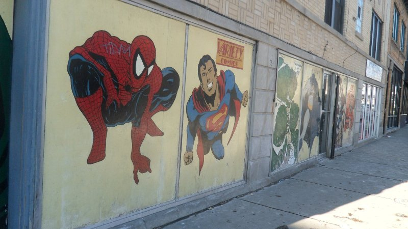 Variety Comics' original mural dedicated to superheroes. (Photo/Variety Comics Facebook)