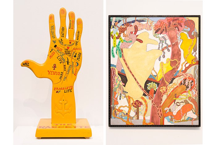 Left: H. C. Westermann, The Rascette, 1961. Righ: Gladys Nilsson, Giant Byrd, 1971. (Courtesy of the Museum of Contemporary Art)