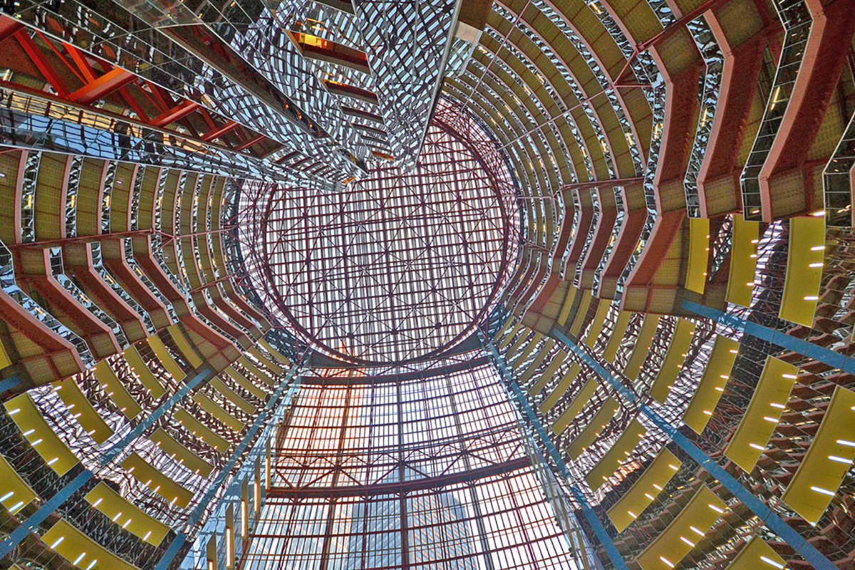 The Thompson Center's futuristic design represented a revolutionary departure from past design of government buildings. (Gabriel X. Michael)