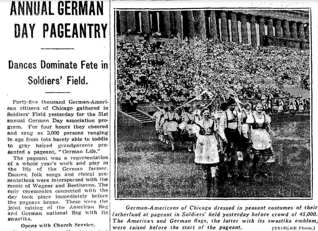 German Day featured in the Chicago Tribune