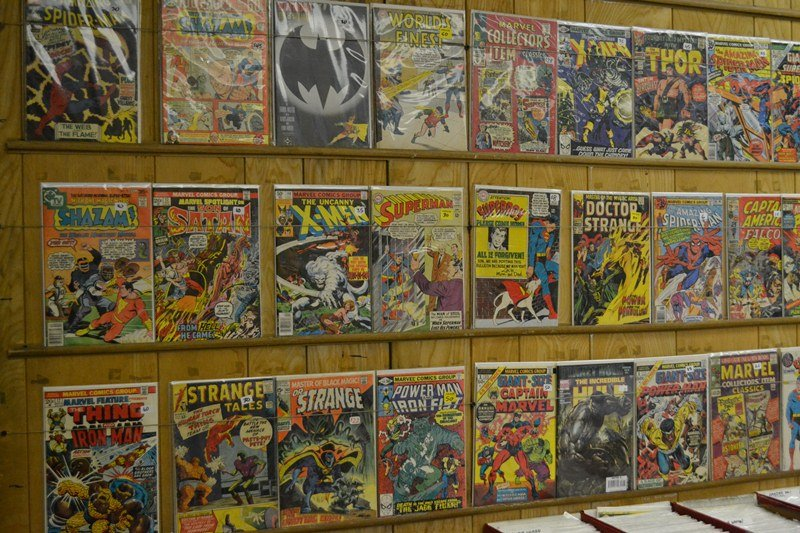 A selection of comics on display at Variety Comics. (Photo/Kristen Thometz)