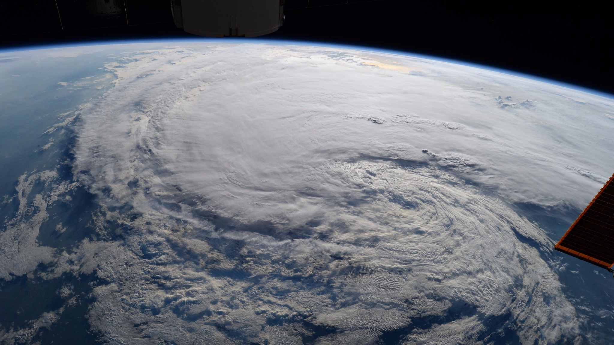 Tropical storm Harvey, photographed from the International Space Station in 2017. (NASA Goddard Space Flight Center / Flickr)