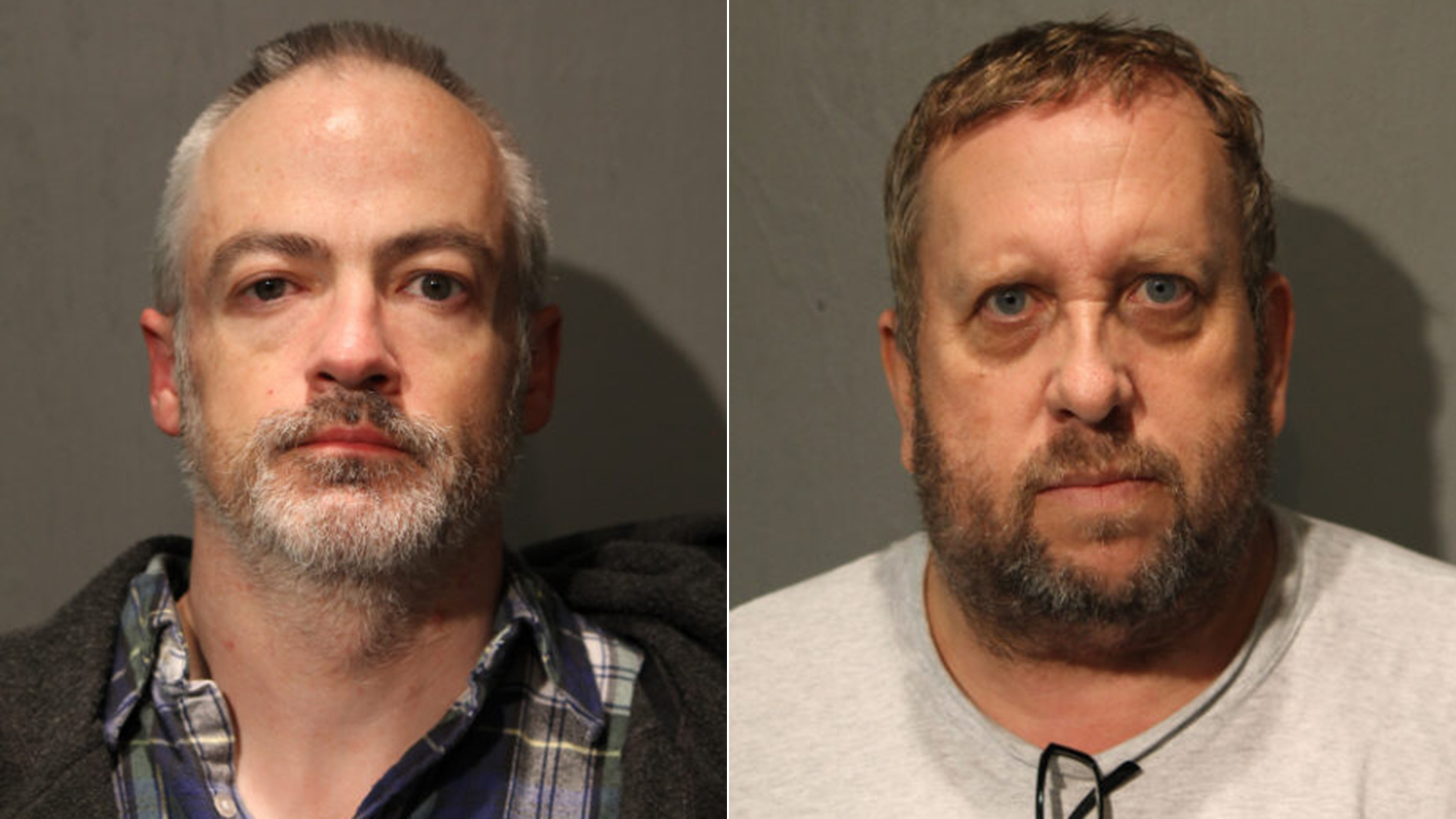 Former Northwestern professor Wyndham Lathem, left, and Andrew Warren are scheduled for arraignment next week in the stabbing death of Trenton Cornell-Duranleau. (Chicago Police Department)