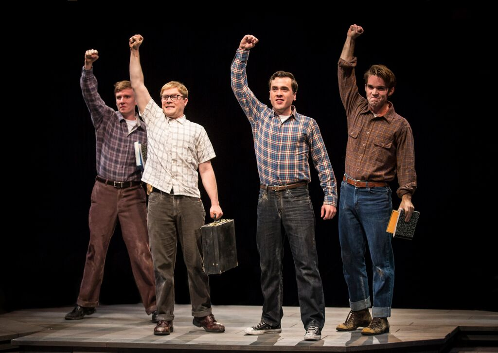 Ben Barker, Alex Weisman, Nate Lewellyn, Patrick Rooney in October Sky (Photo, Liz Lauren)