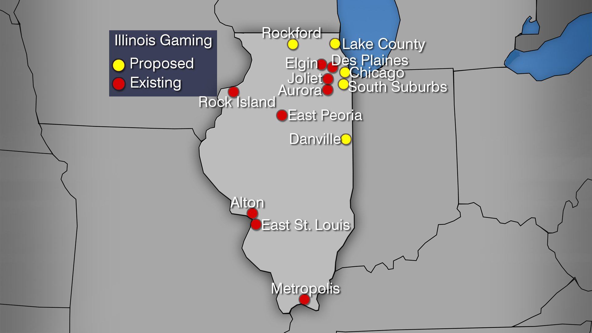 Illinois casinos locations
