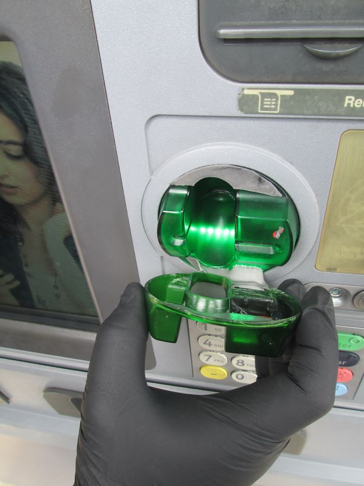 Credit card skimming device (Better Business Bureau)