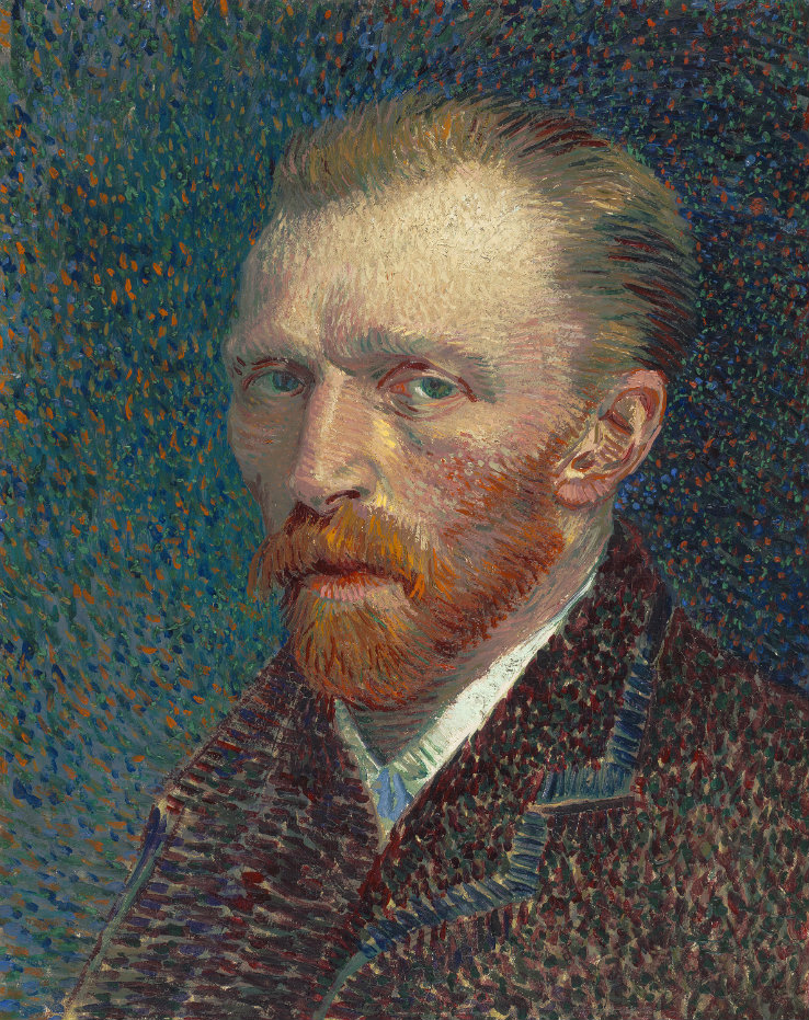 Vincent van Gogh. Self–Portrait, 1887 (Courtesy of the Art Institute of Chicago)