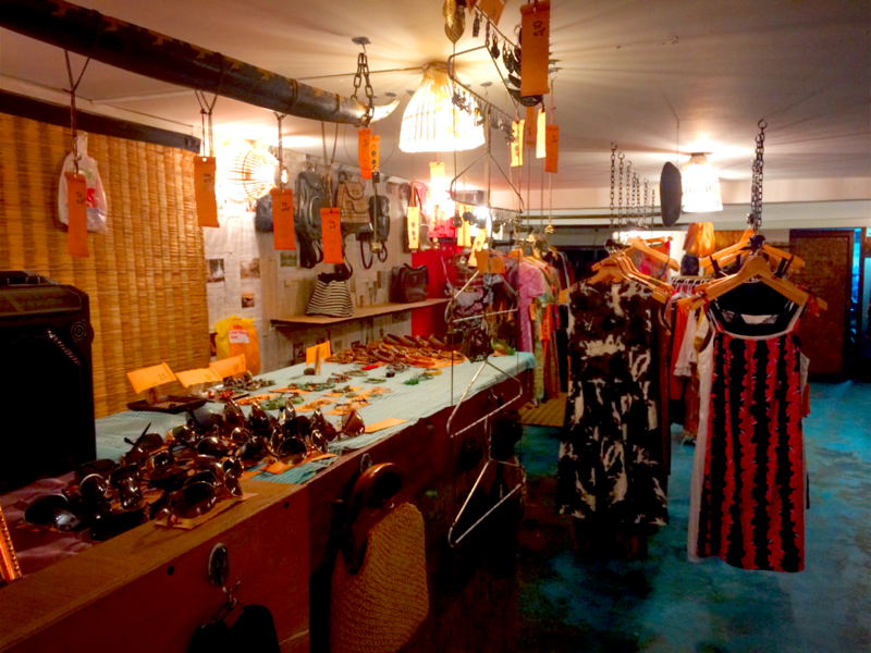 Vintage clothing, jewelry, textiles and accessories are among some of the items for sale. (Anilakeo / Wikimedia Commons)