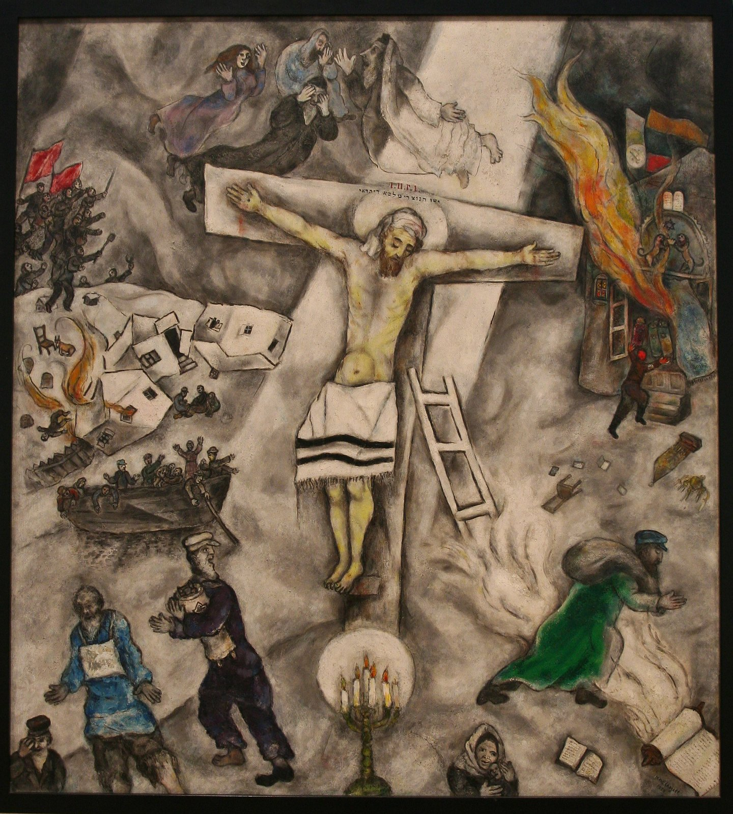 Chagall's 'White Crucifixion' Back in Chicago After Visit ... Chagall White Crucifixion
