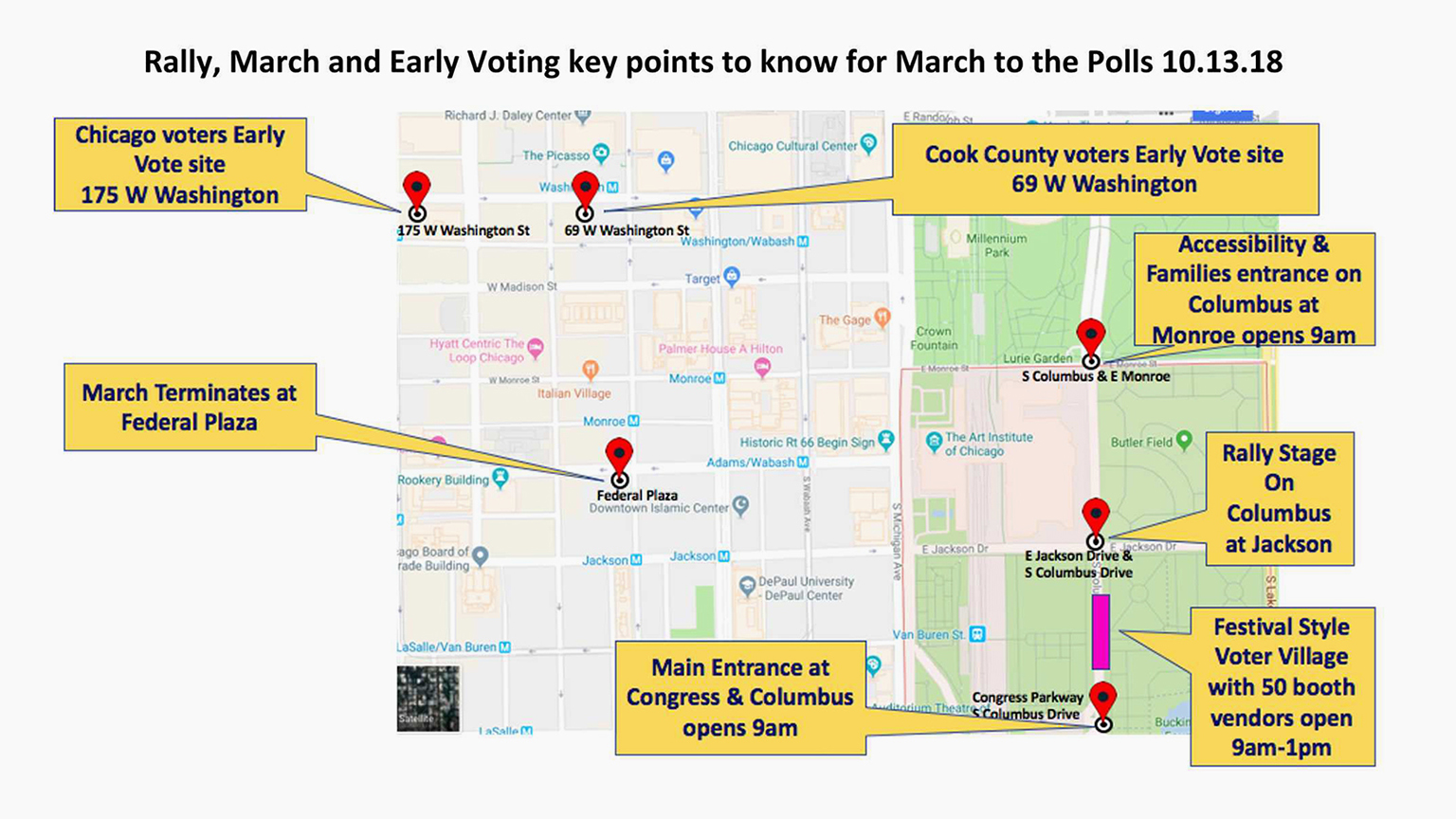 March to the Polls to Honor First-Time Voters Ahead of ... on chicago neighborhood map, chicago airspace map, chicago precinct map, chicago area map, chicago region map, chicago watershed map, chicago district map, chicago tier map, chicago state map, chicago visitors map, chicago elevation map, chicago neighbourhood map, chicago stadium map, chicago topographic map,