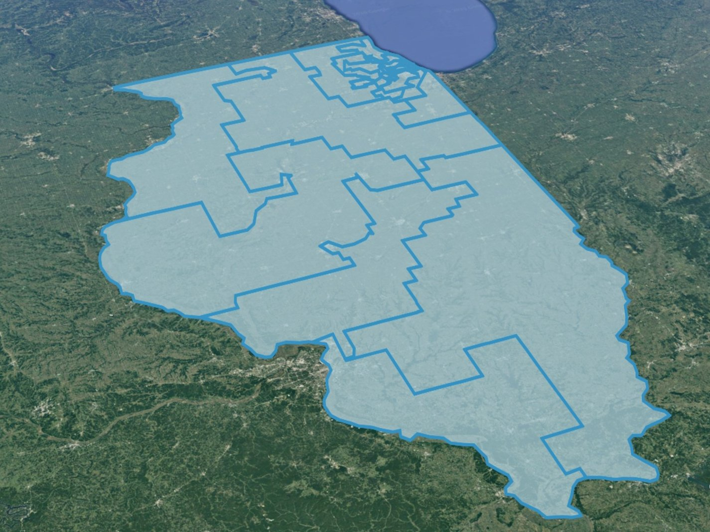 Map of Illinois Congressional Districts