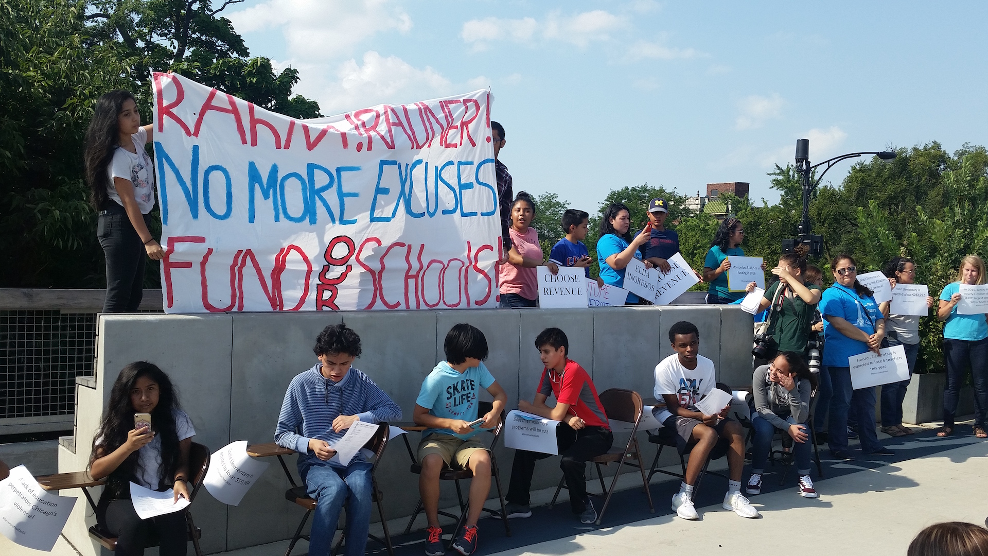 CPS Students Call For Fair Funding With 606 Protest