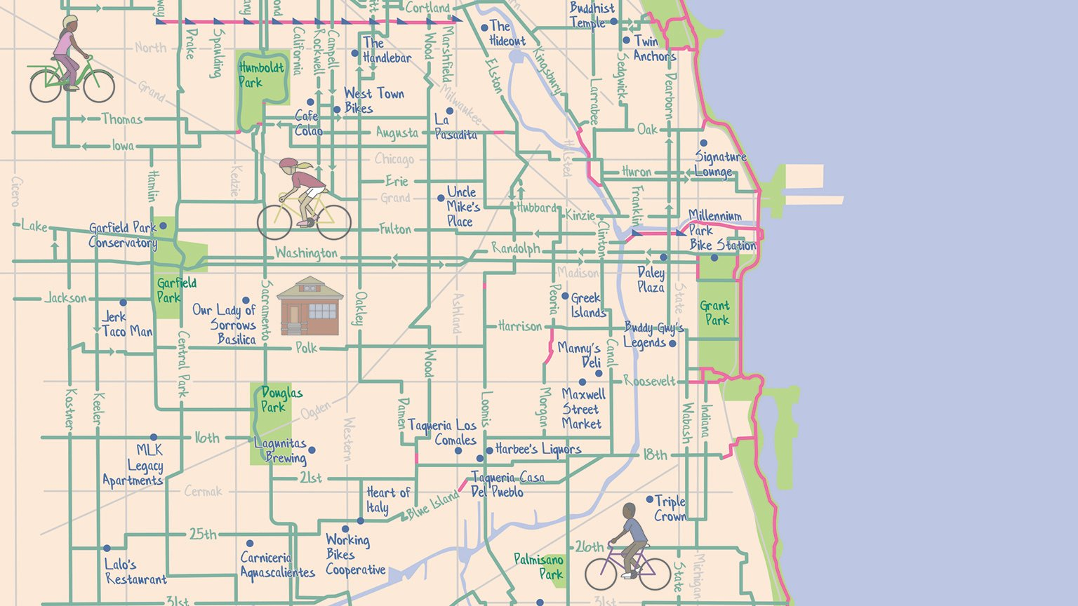 Chicago Bike Map New Chicago Bike Map Highlights Most 'Mellow' Routes | Chicago