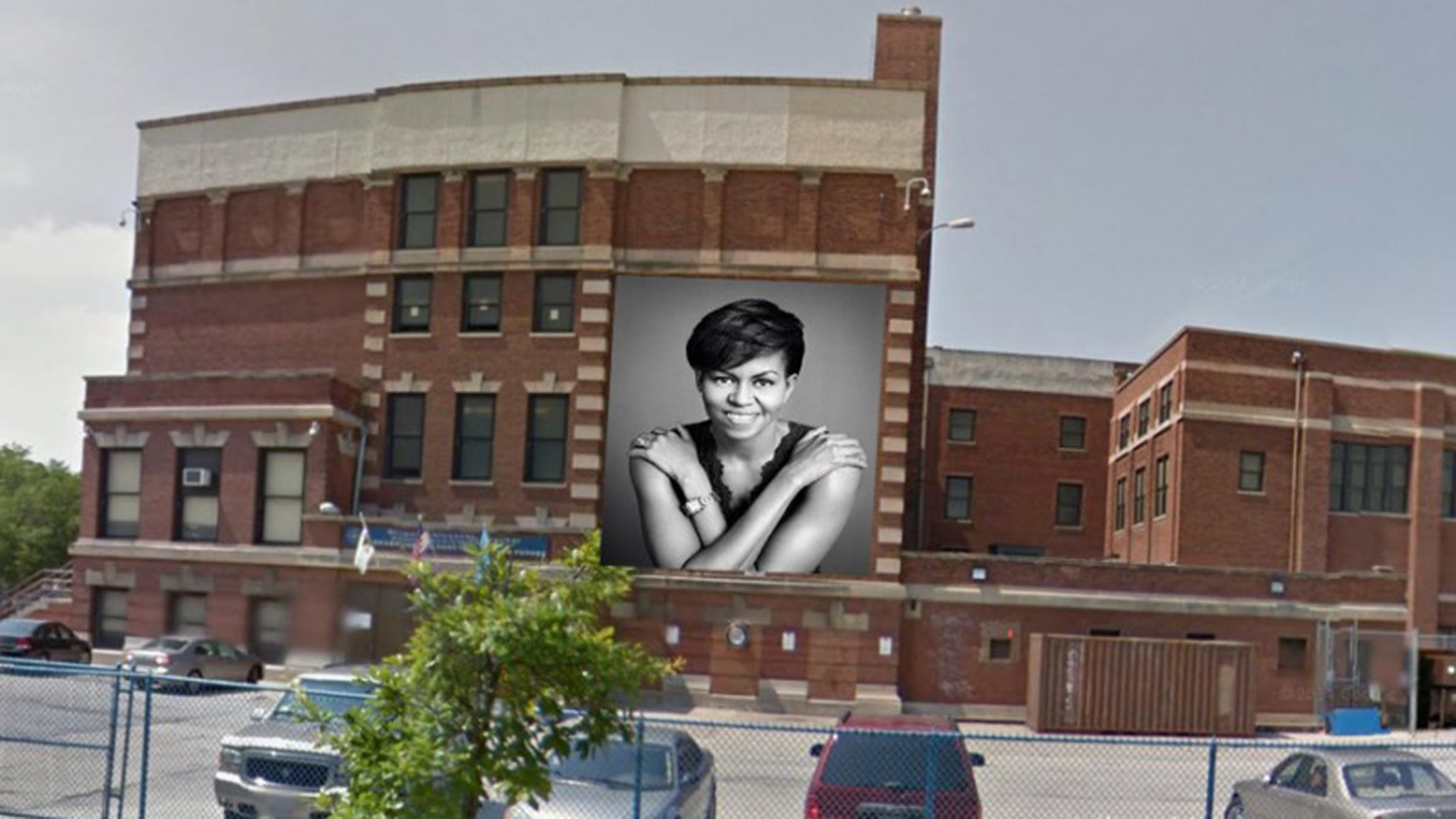 Chicago artist planning michelle obama mural at south for Elementary school mural