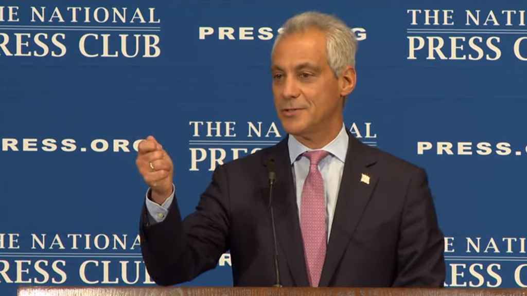 Speaking At The National Press Club On Tuesday Mayor Rahm Emanuel Reiterated Chicago Public Schools