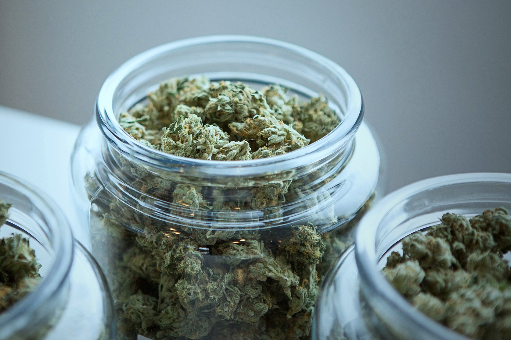 Marijuana in a jar