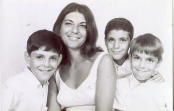 Young brothers with their mother; Courtesy Ezekiel Emanuel
