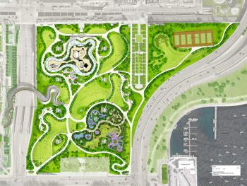 Overall plan for Maggie Daley Park; courtesy Chicago Park District