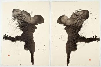 """Prometheus Diptych"" by Diane Abt"
