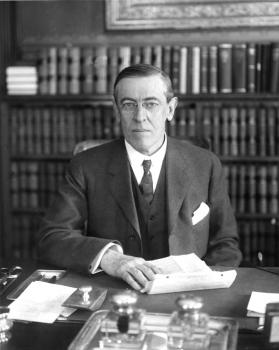Gov. Wilson in office; courtesy Department of Rare Books and Special Collections, Princeton University Library