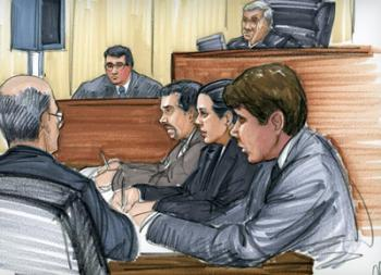 Photo by Thomas Gianni; Rod Blagojevich and his defense team