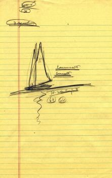 A presidential doodle during the days of the Cuban Missile Crisis. Photo courtesy of John F. Kennedy Library, ca. 1962.
