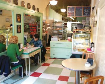 The Hoosier Mama Pie Company is located in a tiny 100-year-old building in Ukrainian Village; photo by Brian M. Heiser