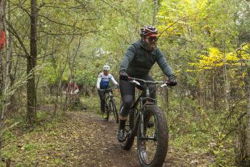 A cyclist tests the trails at the first event at Big Marsh in Oct. 2014; photo credit:  Thomas' Photographic Services