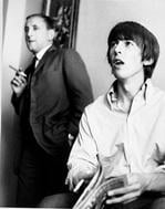 Ivor Davis with George Harrison during summer 1964 Beatles Tour. Photo courtesy of Ron Joy /Belle Schwartz Estate.