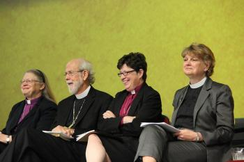 The final four nominees for the election of ELCA presiding bishop during the 2013 ELCA Churchwide Assembly in Pittsburgh. The assembly is the highest legislative body of the ELCA.