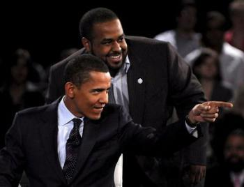 Joshua DuBois and President Obama