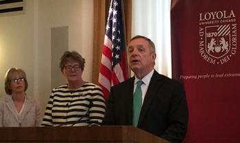 Senator Richard Durbin at Loyola University in Chicago