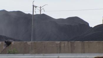 Piles of petcoke used to be 60 feet high.